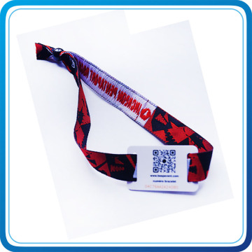 Оптовая Эко-дружественных полиэстер RFID тканые браслеты для событий