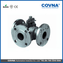 Forged stainless steel 3 way flange 4 inchs ball valve