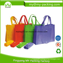 Recycling Eco PP Non-Woven Pocket Foldable Bags Promotion