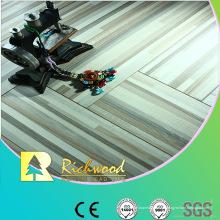 Hogar 12.3mm relieve en relieve encerado piso Lamiante