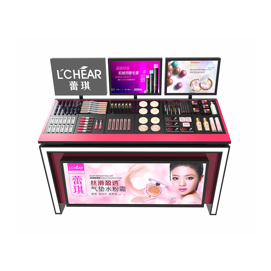 Acrylic Cosmetics Counter Display Stand