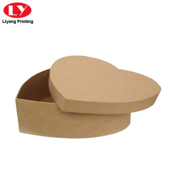 Kraft Paper Cardboard Heart Bentuk Cookie Box
