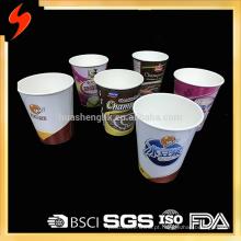 Fabricante experiente preço razoável multicolor papel duplo camada logotipo impressão macarrão, xícara de mingau