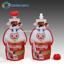 Milk Packaging Pouch Shaped Milk Packaging