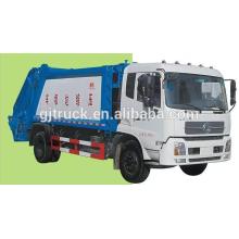 Dongfeng Tianjin 10CBM camión de basura / compacta camión de basura / compresor camión / gancho brazo camión de basura / brazo brazo camión de basura