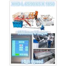 1850mm LLDPE Línea de Producción de Película de Estiramiento de Co-Extrusión de 20 Micrones