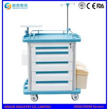 Mobile Functional ABS Notfall Krankenhaus Klinische Behandlung Carts / Trolley
