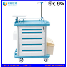 Mobile Functional ABS Emergency Hospital Clinical Treatment Carts/Trolley
