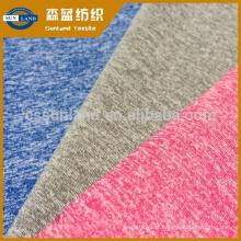 Textile de tricotage de trame simple en jersey simple cationique et polyester-coton pour les vêtements de sport pour enfants
