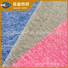 Cationic and polyester cotton-like feeling single jersey weft knitting textile for child sports wear