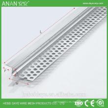 Rejilla de esquina de cartón de yeso flexible para materiales de construcción baratos