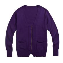 Suéter de punto de la manera de la rebeca del color puro de la manera para los hombres