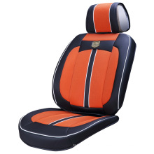 Leather and Ice Silk Car Seat Cover with 3D Viscose Fabric-Orange