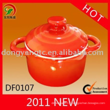 Factory direct wholesale ceramic stew pot , porcelain stew pot