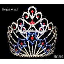 kings crown pearl tiaras rhinestone royal crown tiara mini plastic tiara