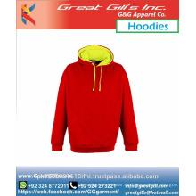Benutzerdefinierte billige einfarbige Hoodies für Erwachsene und Kinder