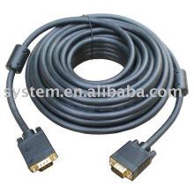 100FT 15 PIN BLUE SVGA VGA ADAPTATEUR Moniteur M / M Mâle vers mâle vga câble CORD POUR PC TV