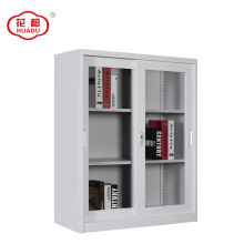 2018 sliding glass door steel wardrobe file cabinet