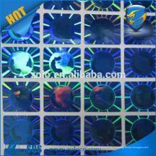 Etiquetas de la goma del holograma del arco iris de la protección de la marca de fábrica