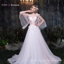 XXLF191 asa borboleta organza beleza besta vestido mulher vestidos de noite
