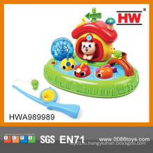 Яркие Цветные Забавные Игрушки Пластмассы Электрического Ребенка Рыбалки