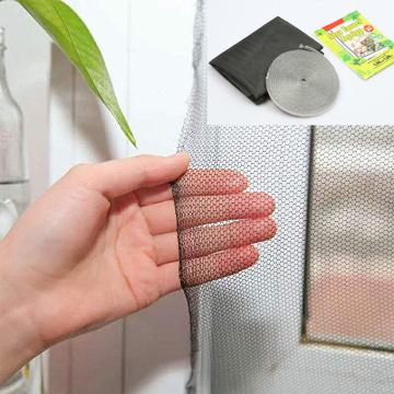 ventana de poliéster diy con cinta adhesiva de gancho