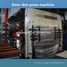 5 capas de melamina moldeado piel puerta caliente máquina de prensa