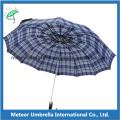 Polyester Check Design Zwei Fold Man Regenschirm