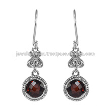 Garnet Gemstone 925 Sterling Silver Earring