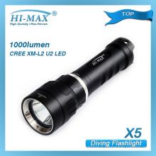 Popular type haute luminosité XM-L U2 cree led lampe torche de plongée magnétique