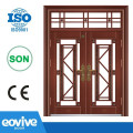 Imitation copper design security steel door