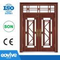 Imitation copper design security steel door