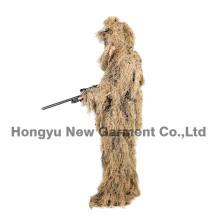 Militares camuflaje Ghillie traje Ghilly traje campo seco hierba (HY-C003)