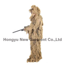 Militaire Camouflage Ghillie Suit Ghilly Suit Dry Field Grass (HY-C003)