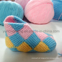 Handmade crocheting bebê meias, meias