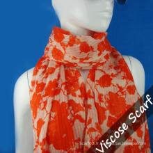 Longue écharpe orange pour dame