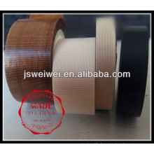 brown white or black coated ptfe adhesive fabric tape from jiangsu veik taixing weiwei in china