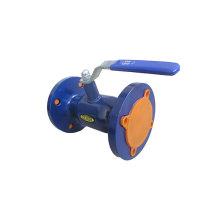 Válvula de esfera soldada flangeada no ferro dútile / ferro fundido