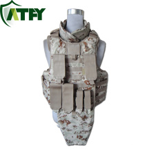 Bulletproof Body Armor Bullet Proof Vest Tactical Vest Resist 9mm FMJ RN Bullets and .44 SJHP Bullets