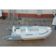 FPR boat RIB390 double rigid inflatable boat with CE