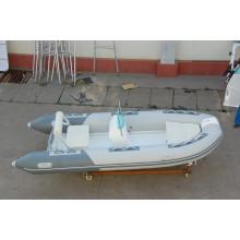 Barco FPR RIB390 duplo barco inflável rígido com CE