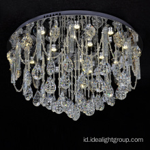 modern led pendant lighting chandelier dengan bola kristal