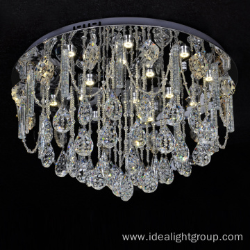 modern led pendant lighting chandelier with crystal ball
