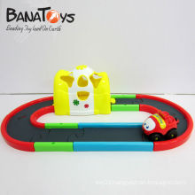 Beautiful plastic electric toy race track car for kid, with light and music