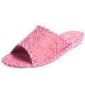 Lace Design Women Slippers Pansy Room Wear Comfort Shoes