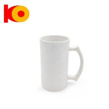 Wholesale custom sublimation travel ceramic coffee beer mug with handle