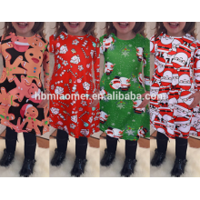 Hot Best Selling High Quality Christmas Little Girl Costume Dress Girls Wholesale Boutique Clothing