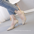 In China is very popular high heels high quality shoes for women
