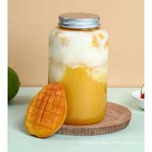 500ml Pet Plastic Bottle Transparent Sealed Jar/ Food Dried Fruit Candy Herbal Tea Jar /Plastic Honey Pickles Jam Beans Sesame Grain Jar for Daily Useful.