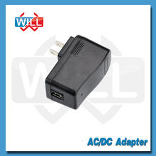 Level VI UL wall switching 5v 1a usb power adapter